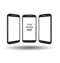 smartphone mock up set vector image