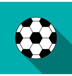 Soccer ball icon in flat style vector image vector image