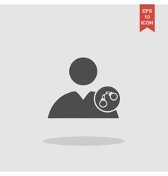 User icon handcuffs vector image vector image