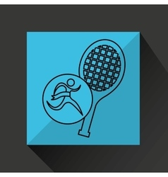 Winner silhouette sport tennis icon vector
