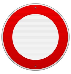 No Traffic Red Sign vector image