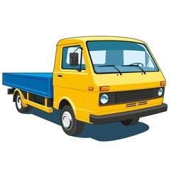 Small yellow truck vector image