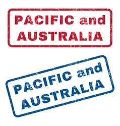 Pacific and australia rubber stamps vector
