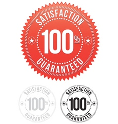 Red satisfaction guaranteed seals set vector