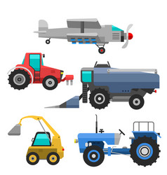 Agricultural vehicles and harvester machine vector