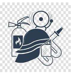 elements for firemen black vector image