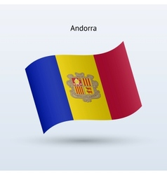 Andorra flag waving form vector
