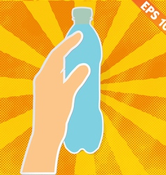 Hand handle drinking bottle - - eps10 vector