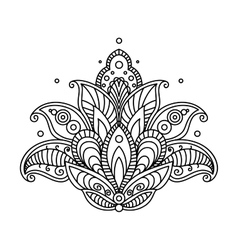 Pretty ornate paisley flower design element vector