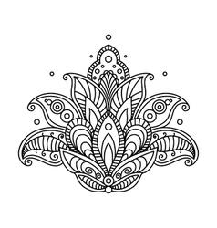Pretty ornate paisley flower design element vector