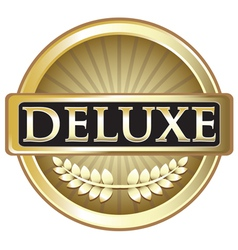 Deluxe gold label vector