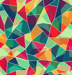 colored mosaic seamless pattern vector image
