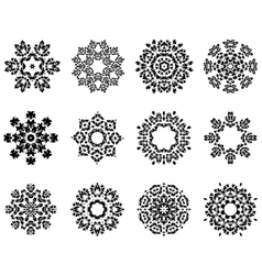 Snowlakes set vector