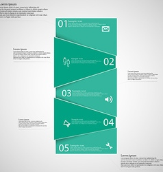 Infographic template with blue bar randomly vector