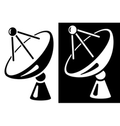 Satellite dish vector image