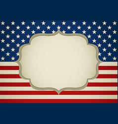Blank frame on america insignia vector