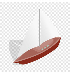 Boat isometric icon vector