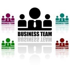 Business team icons set vector