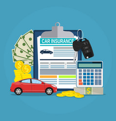 Car insurance form concept vector