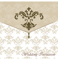 Classic luxury invitation card with ornaments vector image