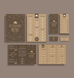 design a4 menu retro folding brochures flyers for vector image vector image