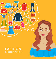 fashion and shopping vector image vector image