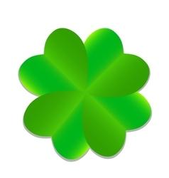 Four-leaf green clover vector