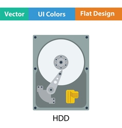 HDD icon vector image