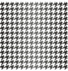 Houndstooth seamless black and white pattern vector