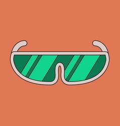 icon in flat design ski goggles vector image