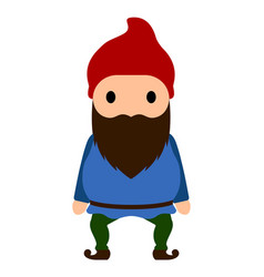 Isolated gnome icon vector