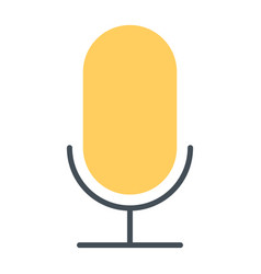 old microphone silhouette icon pictogram vector image