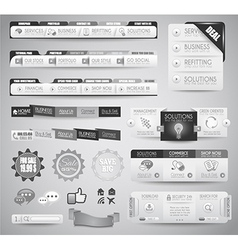 Quality clean web elements for blog and sites vector image