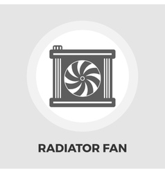 Radiator fan icon vector image vector image
