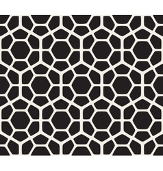 Seamless Black And White Geometric Hexagon vector image vector image