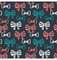 Seamless pattern with hand drawn sketch bows vector