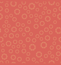 Seamless red flower mandala for print on textile vector