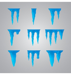 Set of icicles vector image vector image