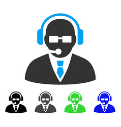 Support manager flat icon vector