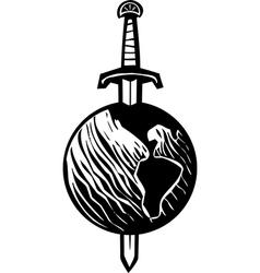 Sword earth vector