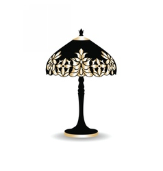 Vintage baroque classic lamp vector