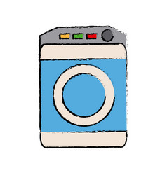 Washing machine icon home appliance symbol vector