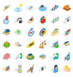Writing form icons set isometric style vector