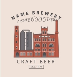 brewery building in retro style vector image