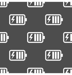 Battery charge seamless pattern vector image