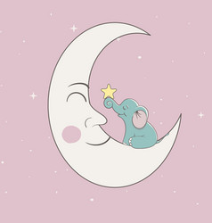 sweet child elephant vector image