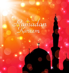 Celebration card for ramadan kareem vector