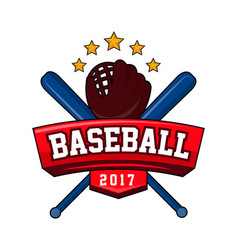 Bat-and-ball game logotype with text brand vector
