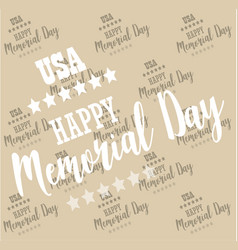 Usa memorial day pattern background vector