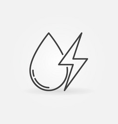 Water drop with energy sign icon vector